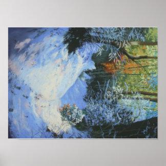 Print Of Snowy Moorland Path