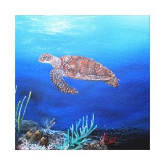 Print on canvas of sea turtle canvas prints