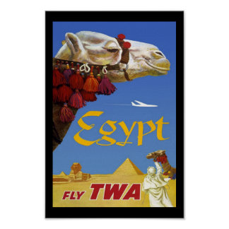 Print Retro Vintage Image Travel Egypt