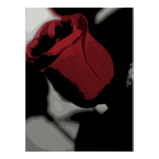 Print - Single Red Rose