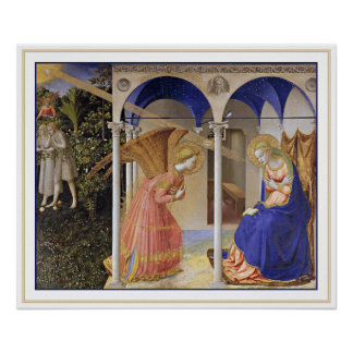 Print: The Annunciation by Fra Angelico Poster