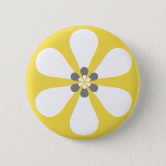 Print this! - Button yellow flower