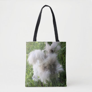 "Print Tote Bag - English Angora Rabbit ""Bradley"""