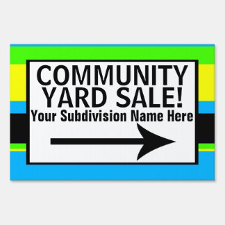 Printed Community Yard Sale Signs
