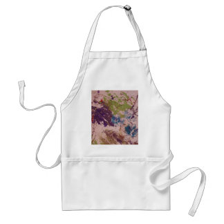 Printed Design With Leaf Apron