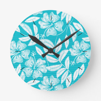 Printed embroidery pin stripes round clock