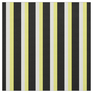 Printed Fabric, in Black & White & Yellow Fabric