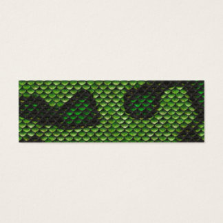 Printed Fake Green Snake Skin Camo Style Design Mini Business Card