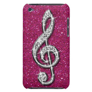 Printed Glitzy Sparkly Diamond Music Note Barely There iPod Covers