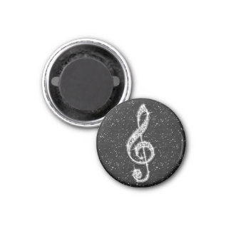 Printed Glitzy Sparkly Diamond Music Note Magnet