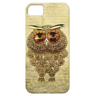 Printed Gold & Amber Owl Jewel Case For The iPhone 5