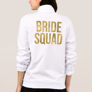 "Printed Gold ""Bride Squad"" Bridesmaids"