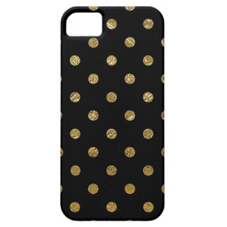 printed gold polka dots pattern iPhone 5 case