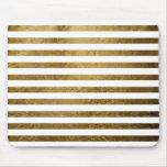 printed golden colour stripes mouse pad