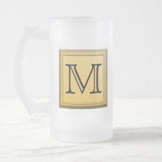Printed image of a custom monogram design. coffee mug