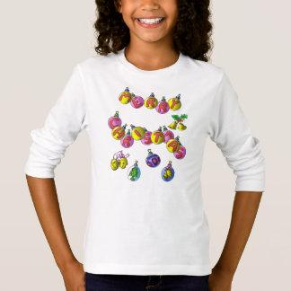 Printed long sleeve T shirt; Merry Christmas T-Shirt