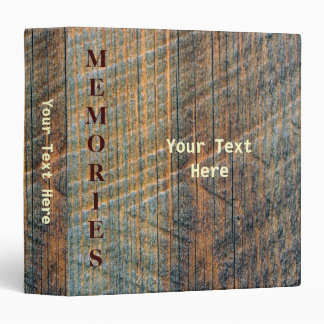 Printed Old Barn Wood Pattern Vinyl Binder