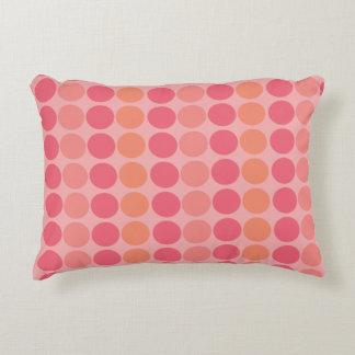 Printed pink pillow