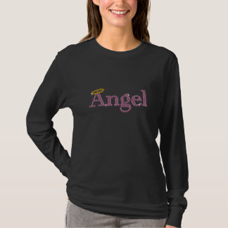 Printed Rhinestone Angel T-Shirt