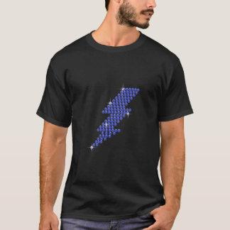 Printed Rhinestone Lightening Bolt T-Shirt