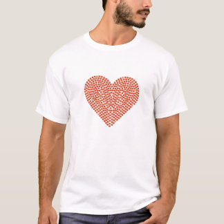 Printed Rhinestone Sparkling Heart T-Shirt