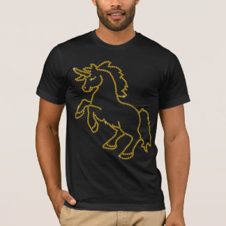 Printed Rhinestone Topaz Unicorn T-Shirt