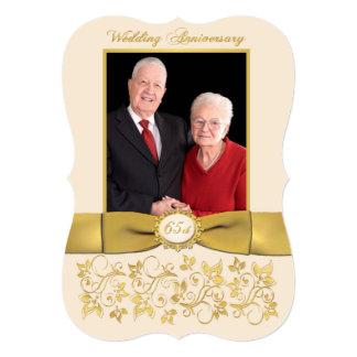 PRINTED RIBBON Fancy Shape 65th Anniversary Invite