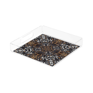 Printed Tiger Bling Pattern Serving Tray