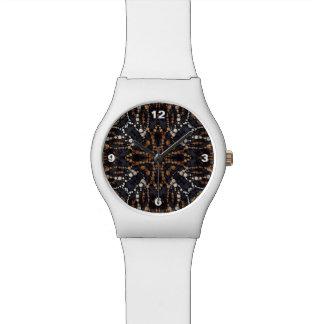 Printed Tiger Bling Pattern Wristwatch