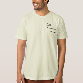 Printed Words On a T-Shirt