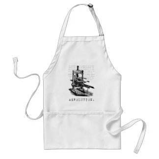 Printing Press = REVOLUTION! Standard Apron