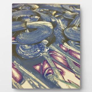 Printmaking Magic in Blues and Purples Plaque