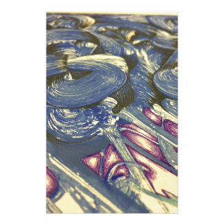 Printmaking Magic in Blues and Purples Stationery Design