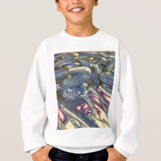 Printmaking Magic in Blues and Purples Sweatshirt