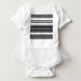 prints tire baby bodysuit