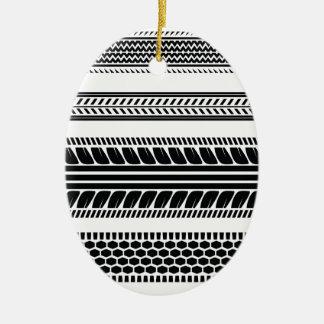 prints tire ceramic ornament