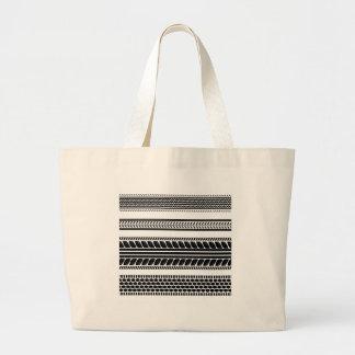 prints tire large tote bag