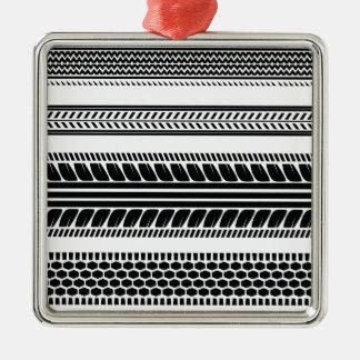 prints tire metal ornament