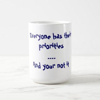 Priorities Classic White Coffee Mug