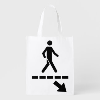 priority Bag-panel Passage to the pedestrians Reusable Grocery Bag