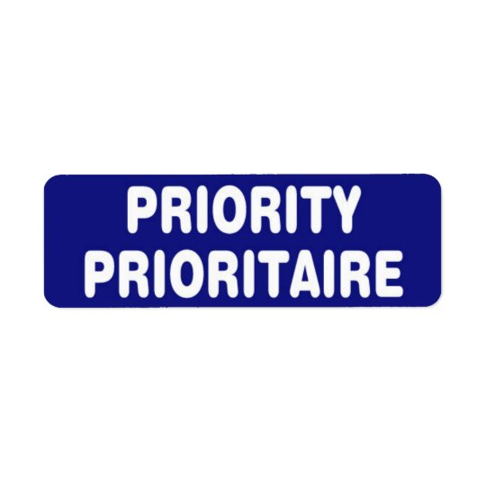 Priority Stickers Return Address Label