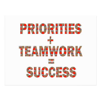 PRIORITY Teamwork Success Wisdom LOWPRICE GIFTS Postcard