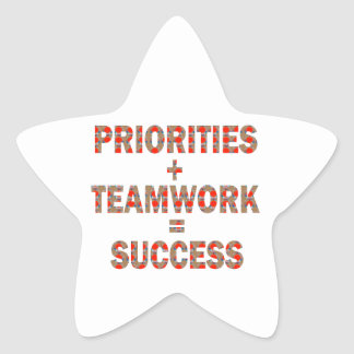 PRIORITY Teamwork Success Wisdom LOWPRICE GIFTS Star Sticker