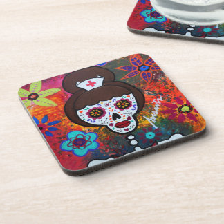 Prisarts Day of the Dead Nurse Coasters