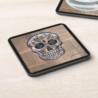 Prisarts Skull Dia de los Muertos Coasters