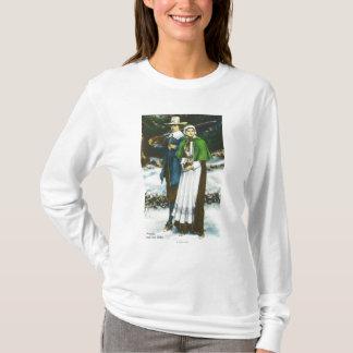 Priscilla and John Alden Scene T-Shirt