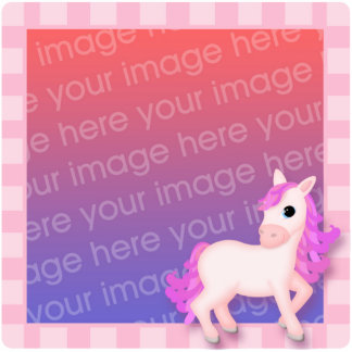 Priscilla the Pink Pony Photosculpture Frame. Photo Cut Outs