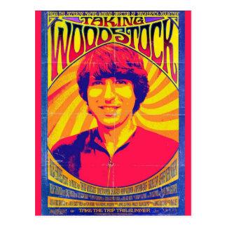 Prise de la carte postale de Woodstock