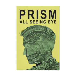 PRISM - All Seeing Eye - Lime Canvas Print