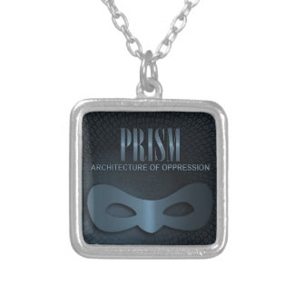"PRISM - ""ARCHITECTURE OF OPPRESSION"" SILVER PLATED NECKLACE"